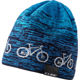 Cube Bike Beanie blue'n'white